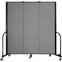 "Screenflex Portable Room Divider - 3 Panel - 6'H x 5'9""L -  Stone"