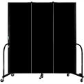 "Screenflex Portable Room Divider - 3 Panel - 6'H x 5'9""L -  Charcoal Black"