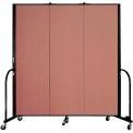 "Screenflex Portable Room Divider - 3 Panel - 6'H x 5'9""L -  Cranberry"