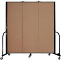 "Screenflex Portable Room Divider - 3 Panel - 6'H x 5'9""L -  Beech"