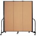 "Screenflex Portable Room Divider - 3 Panel - 6'H x 5'9""L -  Sand"