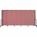 "Screenflex Portable Room Divider - 7 Panel - 6'H x 13'1""L - Rose"