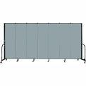 "Screenflex Portable Room Divider - 7 Panel - 6'H x 13'1""L - Grey Stone"