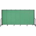 "Screenflex Portable Room Divider - 7 Panel - 6'H x 13'1""L - Sea Green"