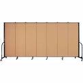 "Screenflex Portable Room Divider - 7 Panel - 6'H x 13'1""L - Sand"
