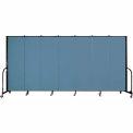 "Screenflex Portable Room Divider - 7 Panel - 6'H x 13'1""L - Blue"