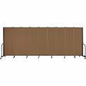"Screenflex Portable Room Divider - 9 Panel - 6'H x 16'9""L - Walnut"