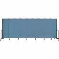 "Screenflex Portable Room Divider - 9 Panel - 6'H x 16'9""L - Summer Blue"