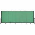 "Screenflex Portable Room Divider - 9 Panel - 6'H x 16'9""L - Sea Green"