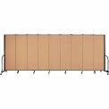 "Screenflex Portable Room Divider - 9 Panel - 6'H x 16'9""L - Sand"