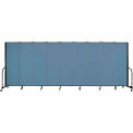 "Screenflex Portable Room Divider - 9 Panel - 6'H x 16'9""L - Blue"