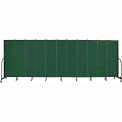"Screenflex 11 Panel Portable Room Divider, 6'8""H x 20'5""L, Fabric Color: Green"