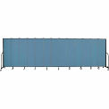 "Screenflex 13 Panel Portable Room Divider, 6'8""H x 24'1""L, Fabric Color: Summer Blue"
