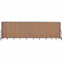 "Screenflex 13 Panel Portable Room Divider, 6'8""H x 24'1""L, Fabric Color: Beech"