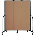 "Screenflex 3 Panel Portable Room Divider, 6'8""H x 5'9""L, Fabric Color: Beech"