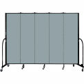 "Screenflex 5 Panel Portable Room Divider, 6'8""H x 9'5""L, Fabric Color: Grey Stone"