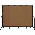 "Screenflex 5 Panel Portable Room Divider, 6'8""H x 9'5""L, Fabric Color: Oatmeal"