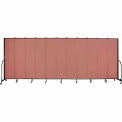 "Screenflex 11 Panel Portable Room Divider, 7'4""H x 20'5""L, Fabric Color: Cranberry"