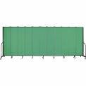 "Screenflex 11 Panel Portable Room Divider, 7'4""H x 20'5""L, Fabric Color: Sea Green"