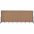 "Screenflex 11 Panel Portable Room Divider, 7'4""H x 20'5""L, Fabric Color: Beech"