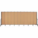 "Screenflex 11 Panel Portable Room Divider, 7'4""H x 20'5""L, Fabric Color: Sand"