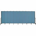 "Screenflex 11 Panel Portable Room Divider, 7'4""H x 20'5""L, Fabric Color: Blue"