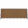 "Screenflex 11 Panel Portable Room Divider, 7'4""H x 20'5""L, Fabric Color: Oatmeal"