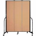 "Screenflex 3 Panel Portable Room Divider, 7'4""H x 5'9""L, Fabric Color: Desert"