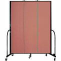 "Screenflex 3 Panel Portable Room Divider, 7'4""H x 5'9""L, Fabric Color: Cranberry"