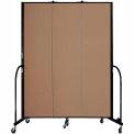 "Screenflex 3 Panel Portable Room Divider, 7'4""H x 5'9""L, Fabric Color: Beech"