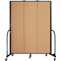 "Screenflex 3 Panel Portable Room Divider, 7'4""H x 5'9""L, Fabric Color: Sand"