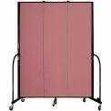 """Screenflex 3 Panel Portable Room Divider, 7'4""""H x 5'9""""L, Fabric Color: Mauve"""