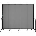 "Screenflex 5 Panel Portable Room Divider, 7'4""H x 9'5""L, Fabric Color: Grey"