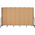 "Screenflex 7 Panel Portable Room Divider, 7'4""H x 13'1""L, Fabric Color: Sand"