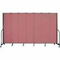 """Screenflex 7 Panel Portable Room Divider, 7'4""""H x 13'1""""L, Fabric Color: Mauve"""