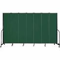 "Screenflex 7 Panel Portable Room Divider, 7'4""H x 13'1""L, Fabric Color: Green"