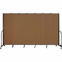 "Screenflex 7 Panel Portable Room Divider, 7'4""H x 13'1""L, Fabric Color: Oatmeal"