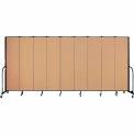 "Screenflex 9 Panel Portable Room Divider, 7'4""H x 16'9""L, Fabric Color: Desert"