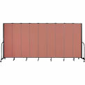 "Screenflex 9 Panel Portable Room Divider, 7'4""H x 16'9""L, Fabric Color: Cranberry"