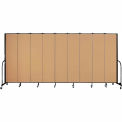 "Screenflex 9 Panel Portable Room Divider, 7'4""H x 16'9""L, Fabric Color: Sand"