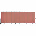 "Screenflex 13 Panel Portable Room Divider, 8'H x 24'1""L, Fabric Color: Cranberry"