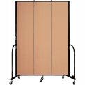 "Screenflex 3 Panel Portable Room Divider, 8'H x 5'9""L, Fabric Color: Desert"