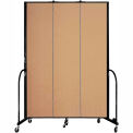 "Screenflex 3 Panel Portable Room Divider, 8'H x 5'9""L, Fabric Color: Sand"