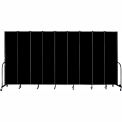 "Screenflex 9 Panel Portable Room Divider, 8'H x 16'9""L, Fabric Color: Charcoal Black"