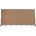 "Screenflex 9 Panel Portable Room Divider, 8'H x 16'9""L, Fabric Color: Beech"