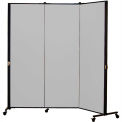 Healthflex Portable Medical Privacy Screen, 3-Panel, Stone