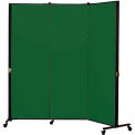 Healthflex Portable Medical Privacy Screen, 3-Panel, Vinyl Mint