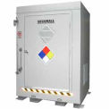 """Securall® 5'W x 3' 6""""D x 6' 11""""H Agri-Chemical Storage Building 2 Drum"""