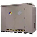 "Securall® 10'W x 8'D x 8' 4""H Hazmat Chemical Storage Building 16 Drum"