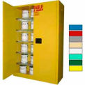 Securall® 60-Gallon Manual Close, Paint/Ink Cabinet Yellow